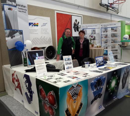 Frank Holland-Merten und Franziska Gerlach auf der Gewerbeausstellung Steinbach-Hallenberg im April 2016